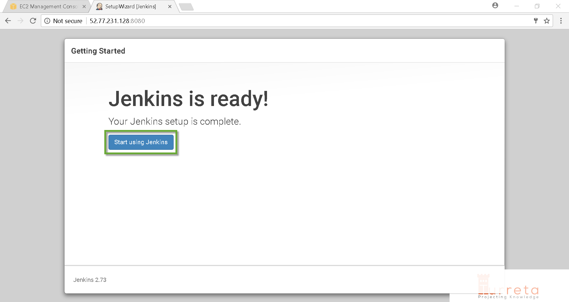 Jenkins is now ready