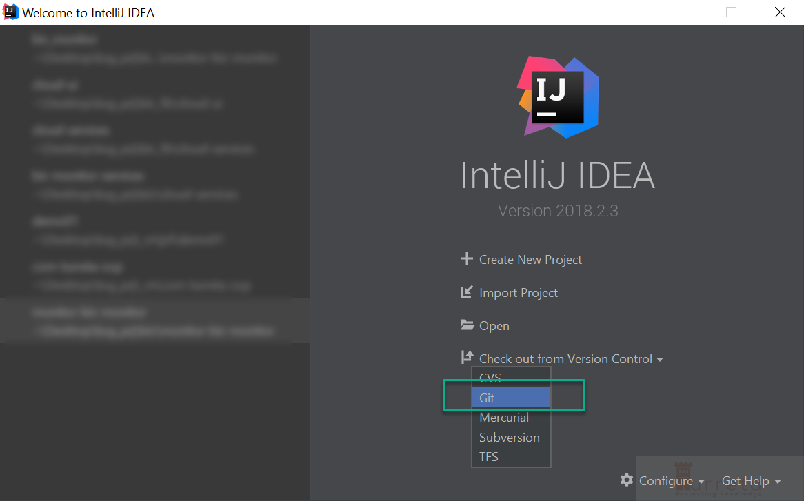 Check out from a specific branch from Git in IntelliJ IDEA