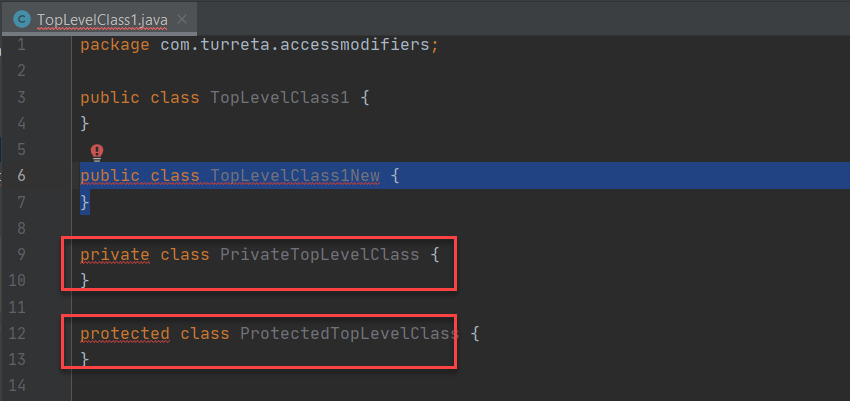 Java Classes And Access Modifiers